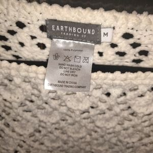 Earthbound Trading co. chenille pullover sweater